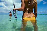 Model Release: 051212_Australia_Cairns_001, 002.Lizard Island is one of the few residential islands on the Great Barrier Reef.  It is remote and exquisite and boasts an environmentally friendly resort. Ecotourism. Paradise.