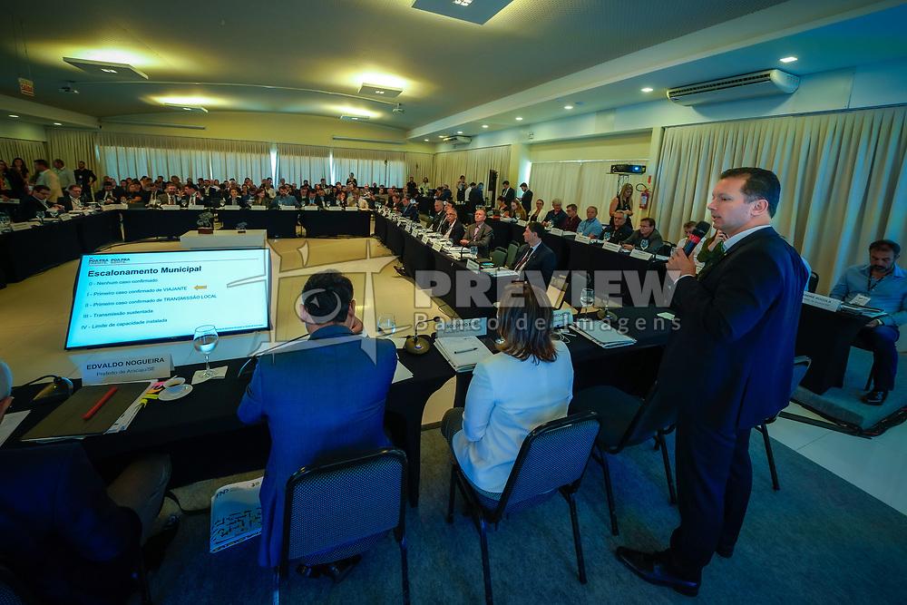 Florianópolis, SC - 12/03/2020: O prefeito Nelson Marchezan Júnior durante explanação na 77º Reunião Geral da Frente Nacional de Prefeitos. FOTO: Jefferson Bernardes
