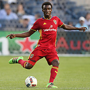 NEW YORK, NEW YORK - June 02: Stephen Sunny Sunday #8 of Real Salt Lake in action during the NYCFC Vs Real Salt Lake regular season MLS game at Yankee Stadium on June 02, 2016 in New York City. (Photo by Tim Clayton/Corbis via Getty Images)