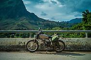 Honda Win parked along a road, Muong La District, Son La Province, Vietnam, Southeast Asia