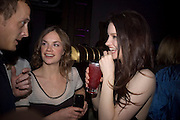 Adam Goodsell, Ruth Wilson and Tallulah Riley, Dom Perignon and Claudia Schiffer host a celebration of Dom Perignon Oenotheque 1995. The Landau, Portland Place. London W1. 26 February 2008.  *** Local Caption *** -DO NOT ARCHIVE-© Copyright Photograph by Dafydd Jones. 248 Clapham Rd. London SW9 0PZ. Tel 0207 820 0771. www.dafjones.com.