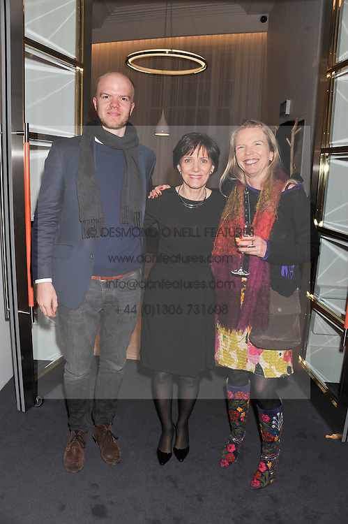 Left to right, NOAH DEVEREUX, HOLLY PEPPE and VANESSA BRANSON at a party to celebrate the publication of Mum's The Word by Eve Branson held at Grace, West Halkin Street, London on 11th March 2013.