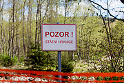 """Attention: State Border"". The closed state border in between Germany and Czech Republic in Bayerisch Einsenstein after the corona virus outbreak changed our public lifes. Czech Republic is in the state of emergency and just their own citizens or foreigners with a residence permit are allowed to enter."