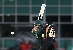 Michael Lumb of Notts Outlaws (L) in action - Mandatory by-line: Jack Phillips/JMP - 29/07/2016 - CRICKET - Trent Bridge - Nottingham, United Kingdom - Nottingham Outlaws v Leicester Foxes - Natwest T20 Blast