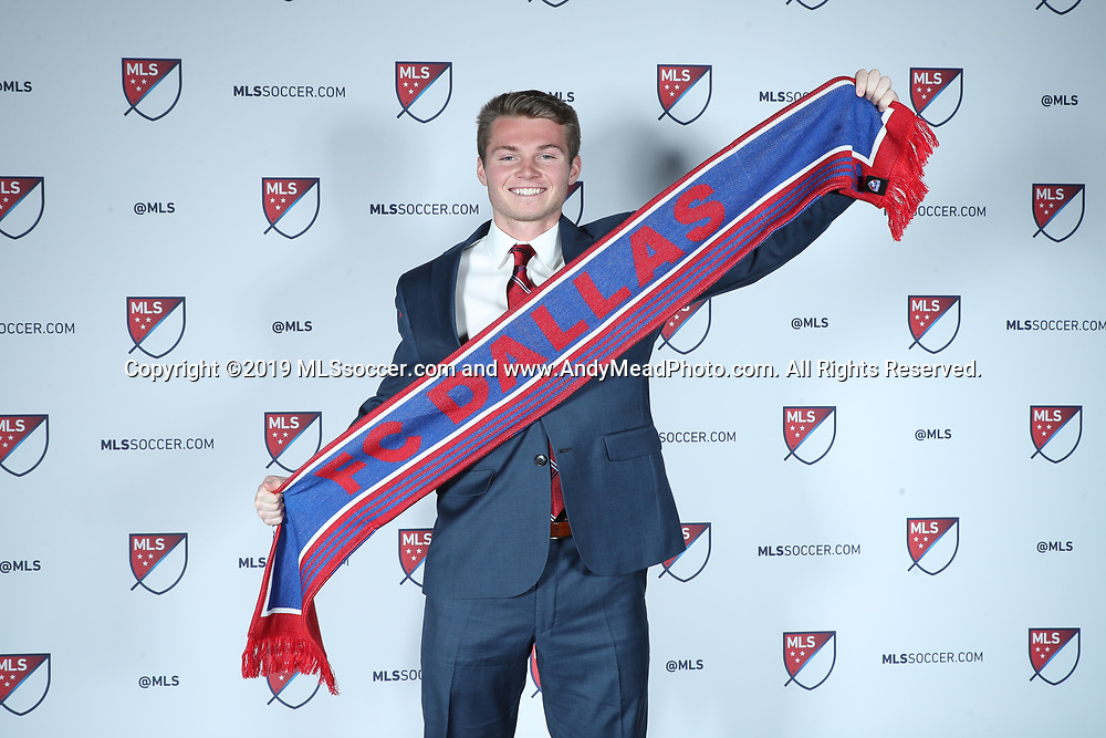 CHICAGO, IL - JANUARY 11: John Nelson was taken with the tenth overall pick by FC Dallas. The MLS SuperDraft 2019 presented by adidas was held on January 11, 2019 at McCormick Place in Chicago, IL.