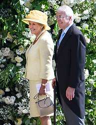 © Licensed to London News Pictures. 19/05/2018. London, UK. Former British Prime Minister JOHN MAJOR and his wife NORMA arrive at The wedding of Prince Harry, The Duke of Sussex to Meghan Markle, The Duchess of Sussex, at St George's Chapel in Windsor. Photo credit: Ben Cawthra/LNP