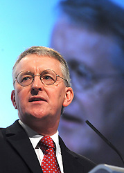 © Licensed to London News Pictures. 29/09/2011. LONDON, UK. Hilary Benn, Shadow Leader of the House addresses The Labour Party Conference in Liverpool today (2829/09/11). Photo credit:  Stephen Simpson/LNP