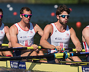 Lucerne, SWITZERLAND. GBR M4-left;  Scott DURANT and   Tom RANSLEY, heat of the men's four, 2015 FISA World Cup III, Lake Rotsee,  08:39:17  Friday  10/07/2015   [Mandatory Credit. Peter SPURRIER/Intersport Images.