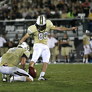 ORLANDO, FL - OCTOBER 09: Shawn Moffitt #83 and J.J. Worton #9 of the UCF Knights are seen at Bright House Networks Stadium on October 9, 2014 in Orlando, Florida. (Photo by Alex Menendez/Getty Images) *** Local Caption *** Shawn Moffitt; J.J. Worton