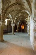 Abbey interior, Mont Saint-Michel monastery, Normandy, France