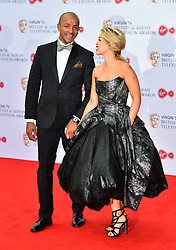 Richard James and Katie Piper arriving for the Virgin TV British Academy Television Awards 2017 held at Festival Hall at Southbank Centre, London. PRESS ASSOCIATION Photo. Picture date: Sunday May 14, 2017. See PA story SHOWBIZ Bafta. Photo credit should read: Matt Crossick/PA Wire