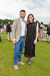 VICTORIA PENDLETON and her husband SCOTT GARDNER at the Cartier Queen's Cup Final 2016 held at Guards Polo Club, Smiths Lawn, Windsor Great Park, Egham, Surry on 11th June 2016.