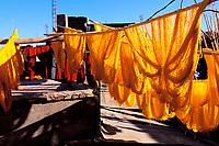 Maroc - Marrakech<br />Quartier des teinturiers<br />Dyer quarter - Marrakech - Morocco