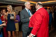 JENNIFER WADE; JOHN CLEESE; TOASTMASTER; ALEXANDER 'PAV' MICHAELS, , Jumeirah Carlton Tower - 50th anniversary party<br /> Jumeirah Carlton Tower Hotel, Knightsbridge, London, SW1. 13 June 2011<br /> <br /> <br />  , -DO NOT ARCHIVE-© Copyright Photograph by Dafydd Jones. 248 Clapham Rd. London SW9 0PZ. Tel 0207 820 0771. www.dafjones.com.