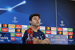 February 12, 2018 - Turin, Piedmont, Italy - Mauricio Pochettino during the Tottenham Hotspur FC press conference on the eve of the first leg of the Round 16 of the UEFA Champions League 2017/18 between Juventus FC and Tottenham Hotspur FC at Allianz Stadium on 12 February, 2018 in Turin, Italy. (Credit Image: © Massimiliano Ferraro/NurPhoto via ZUMA Press)