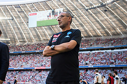 August 2, 2017 - Munich, Germany - Coach of ssc Naples Sarri Maurizio during the Audi Cup 2017 match between SSC Napoli and FC Bayern Muenchen at Allianz Arena on August 2, 2017 in Munich, Germany. (Credit Image: © Paolo Manzo/NurPhoto via ZUMA Press)