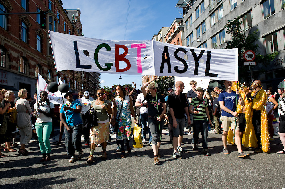 24.09.2013. Copenhagen, Denmark.About 20,000 gays, lesbians, transsexuals and bisexuals participated in the Copenhagen Pride Parade.The parade route, which began at Frederiksberg City Hall to City Hall Square, through the districts of Fredereriksberg and Vesterbro. This year the Copenhagen Pride is dedicated to Russia's LGBT community, who became further stigmatised by a new law in June 2013.Photo: © Ricardo Ramirez