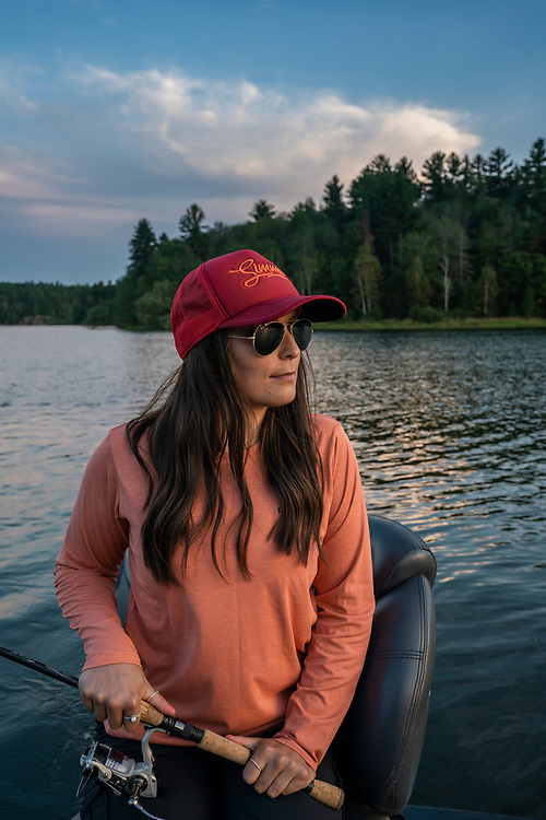 Fishing at Deer Lake near Ishpeming, Michigan.