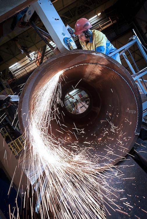 Tata Steel Hartlepool - March 2013 - Profiling machine for wind turbine construction