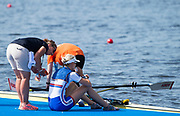 Sarasota. Florida  GBR W1X, Victoria THORNLEY, sits and drinks on the pontoon after her race. USA.Sunday Final's Day at the  2017 World Rowing Championships, Nathan Benderson Park<br /> <br /> Sunday  01.10.17   <br /> <br /> [Mandatory Credit. Peter SPURRIER/Intersport Images].<br /> <br /> <br /> NIKON CORPORATION -  NIKON D4S  lens  VR 500mm f/4G IF-ED mm. 640 ISO 1/3200/sec. f 5.6