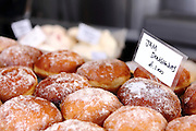 Jam doughnuts for sale in Northcote Road, Clapham