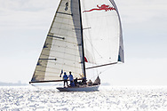 Sir Michael Briggs' Mikado competing in Cowes during the Panerai British Classic Sailing Week regatta. <br /> Picture date: Monday July 10, 2017.<br /> Photograph by Christopher Ison ©<br /> 07544044177<br /> chris@christopherison.com<br /> www.christopherison.com