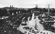 World War I 1914-1918: Postcard showing French victory parade through Paris, 14 July 1919. France