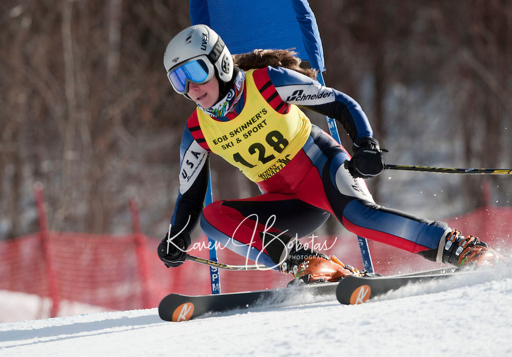 FIS NJR Ladies giant slalom at Sunapee February 10, 2011.