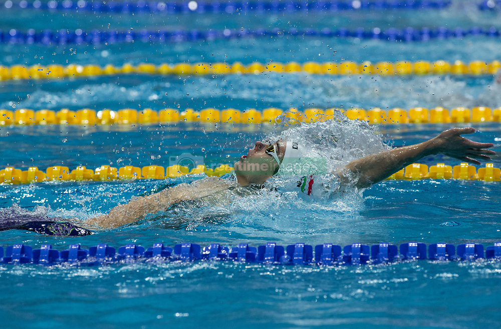 October 4, 2018 - Budapest, Hungary - Telegdy Adam of  Hungary competes in the Mens 200m Backstroke on day one of the FINA Swimming World Cup held at Duna Arena Swimming Stadium on Okt 04, 2018 in Budapest, Hungary. (Credit Image: © Robert Szaniszlo/NurPhoto/ZUMA Press)