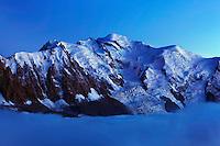 Mountain impression Aguille du Midi, Mont Blanc - Europe, France, Haute Savoie, Aiguilles Rouges, Chamonix, Lac Blanc - Dusk - September 2008