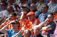 Blackpool's Fans<br /> <br /> Photographer  Kieran Galvin/CameraSport<br /> <br /> Football - The Football League Sky Bet League One - Colchester United v Blackpool - Saturday 08th August 2015 - Weston Homes Community Stadium - Colchester<br /> <br /> © CameraSport - 43 Linden Ave. Countesthorpe. Leicester. England. LE8 5PG - Tel: +44 (0) 116 277 4147 - admin@camerasport.com - www.camerasport.com