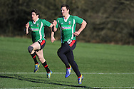 George North of Wales. Wales rugby training and press conference at the Vale resort, Hensol near Cardiff, South Wales on Tuesday 19th Feb 2013. The team are training ahead of their forthcoming RBS Six nations match in Italy. pic by Andrew Orchard, Andrew Orchard sports photography,