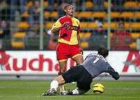 Fotball<br /> Frankrike 2004/05<br /> Lens v Bastia<br /> 18. desember 2004<br /> Foto: Digitalsport<br /> NORWAY ONLY<br /> DANIEL COUSIN (LENS) / NICOLAS PENNETEAU (BAS)