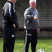 MILANO 20021031<br /> Rosenborg's Nils Arne Eggen and Ola By Rise during the training the day after the Champions League match against Inter, Thursday, October 31, 2002. Rosenborg coaches travelled back to Norway later that same Thursday.<br /> Foto: Gorm Kallestad / SCANPIX Code 20520