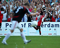 Photo: Maarten Straetemans.<br /> Feyenoord v Liverpool. Rotterdam Tournament. 05/08/2007.<br /> Royston Drenthe celebrates the 1-0 for Feyenoord