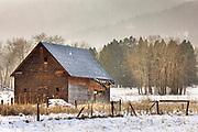 Winter in the Bittteroot Valley, Montana.