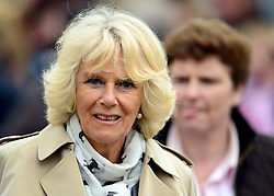 © Licensed to London News Pictures. 10/05/2013. Windsor, UK  Camilla, Duchess of Cornwall meets members of the public at the show. The Royal Windsor Horse Show, set in the grounds of Windsor Castle. Established in 1943, this year will see the Show celebrate its 70th anniversary. Photo credit : Stephen Simpson/LNP