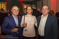 (l to r) Ronan Henry, Brenda Henry, and Aidan Henry (all from Sutton Dinghy Club) at the reunion night to celebrate 50 years of the Irish Fireball Class, held at the Royal St George YC.