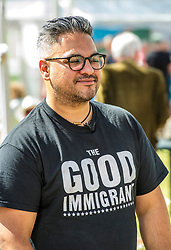 Pictured: Nikesh Shukla author of the Good Immigrant<br /> Book fanatics headed to Charlotte Square in Edinburgh which is the hub of the international Book Festival to meet the authors and also to meet up with fellow fans of the printed word.<br /> <br /> <br /> Ger Harley   EEm 14 August 2017