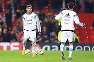 Lionel Messi of Argentina warms up - Argentina vs. Portugal - International Friendly - Old Trafford - Manchester - 18/11/2014 Pic Philip Oldham/Sportimage