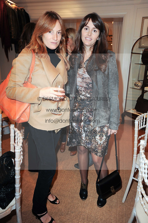 Left to right, EMILY OPPENHEIMER-TURNER and TANIA FARES at a ladies lunch at Ralph Laren, Westbourne Grove, London W11 hosted by Too Many Women in Support of Breakthrough Breast Cancer on 4th October 2010.