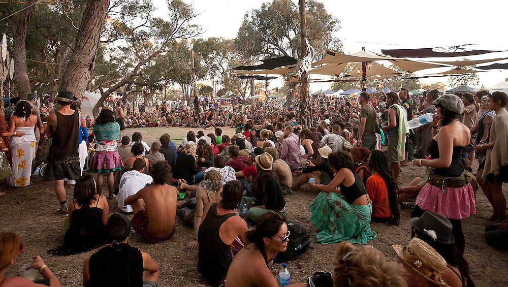 Rainbow Serpent Festival 2010, Beaufort, Victoria, Australia, January 22-25th 2010: Images from the Rainbow Serpent Festival, an internationally recongnised, multifaceted weekend of dance, colour, expression and celebration that draws a crowd of 7,000 plus people annually over the Australia Day weekend.  People travel from all over the world to Western Victoria to experience what many say is the best outdoor festival of it's type in the Southern Hemisphere.  ?Photo: Joseph Feil