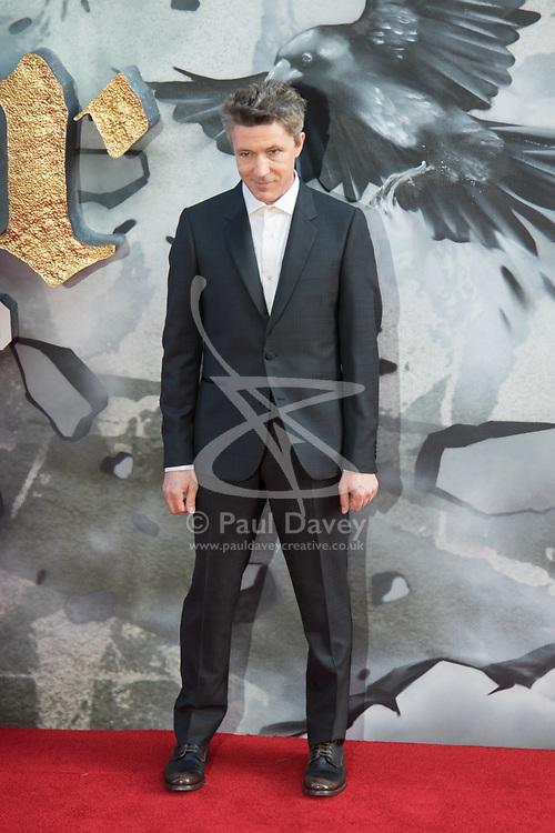 London, May 10th 2017. Aidan Gillen attends the European premiere of King Arthur - Legend of the Sword at the Cineworld Empire in Leicester Square.