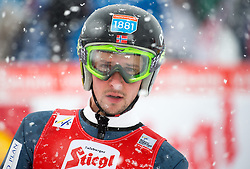 31.01.2016, Casino Arena, Seefeld, AUT, FIS Weltcup Nordische Kombination, Seefeld Triple, Skisprung, im Bild Jan Schmid (NOR) // Jan Schmid of Norway reacts after his Competition Jump of Skijumping of the FIS Nordic Combined World Cup Seefeld Triple at the Casino Arena in Seefeld, Austria on 2016/01/31. EXPA Pictures © 2016, PhotoCredit: EXPA/ Jakob Gruber
