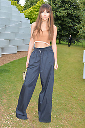 DOINA CIOBANU at a party hosted by fashion store COS to celebrate The Serpentine Park Nights 2016 held at The Serpentine Gallery, Kensington Gardens, London on 12th July 2016.
