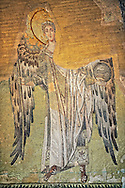 Byzantine Mosaic of an Angel, Hagia, Sophia, Istanbul, Turkey .<br /> <br /> If you prefer to buy from our ALAMY PHOTO LIBRARY  Collection visit : https://www.alamy.com/portfolio/paul-williams-funkystock/hagia-sophia-istanbul.html<br /> <br /> Visit our TURKEY PHOTO COLLECTIONS for more photos to download or buy as wall art prints https://funkystock.photoshelter.com/gallery-collection/3f-Pictures-of-Turkey-Turkey-Photos-Images-Fotos/C0000U.hJWkZxAbg