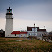 Highland Light in moody spring day, Truro, Cape Cod