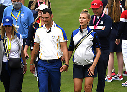Team Europe vice captain Martin Kaymer with wife Allison Micheletti during day three of the 43rd Ryder Cup at Whistling Straits, Wisconsin. Picture date: Sunday September 26, 2021.