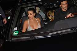 File photo taken on September 29, 2016 in Paris, France, of Kourtney Kardashian drived by a man who could be involved in Kim Kardashian robbery. French police investigating the theft of nearly $10 million in jewels from Kim Kardashian arrested 17 people on Monday, including a chauffeur who drove the American reality television star around Paris in the days before the robbery. Many of those arrested in coordinated police raids in several different parts of France were known underworld figures aged around 50 and at least three were women, police and judicial sources said. Photo by Julien Reynaud/APS-Medias/ABACAPRESS.COM