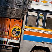 Truck decoration at the fruit market in Kolkata, India